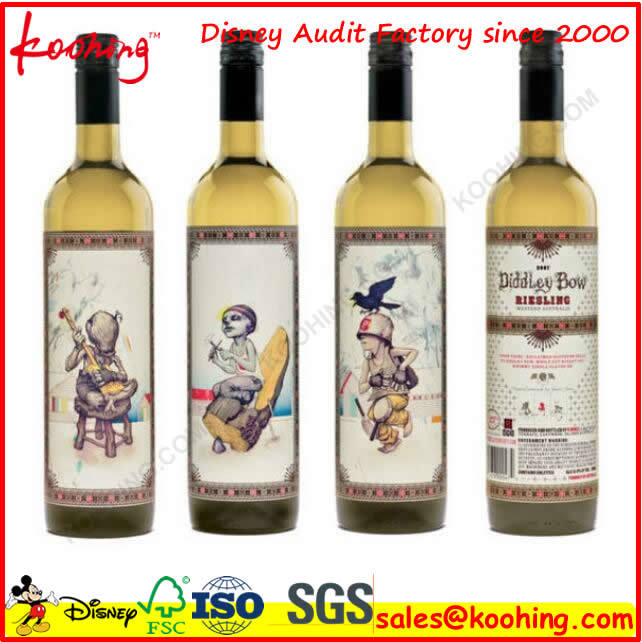 Factory Corrugated Cardboard Wine Box with Handle & Window for Three Bottles Wine Packaging
