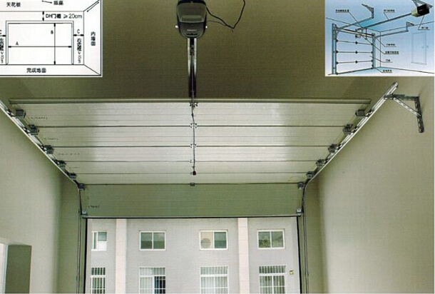 Industrial High Speed Sheet Fast Acting Sliding Sectional Door (Hz-FC0310)