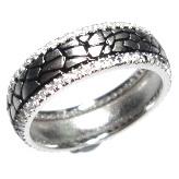 Black Ring with Gemstone (R9789)