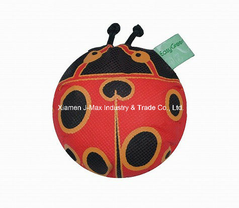Foldable Shopping Promotional Bag with 3D Pouch, Animal Ladybird Style, Reusable, Lightweight, Grocery Bags and Handy, Gifts, Tote