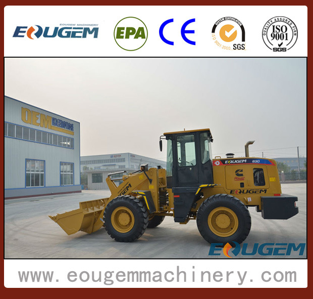 Eougem Articulated Wheel Loader with Cummins Engine (zl30 3ton)