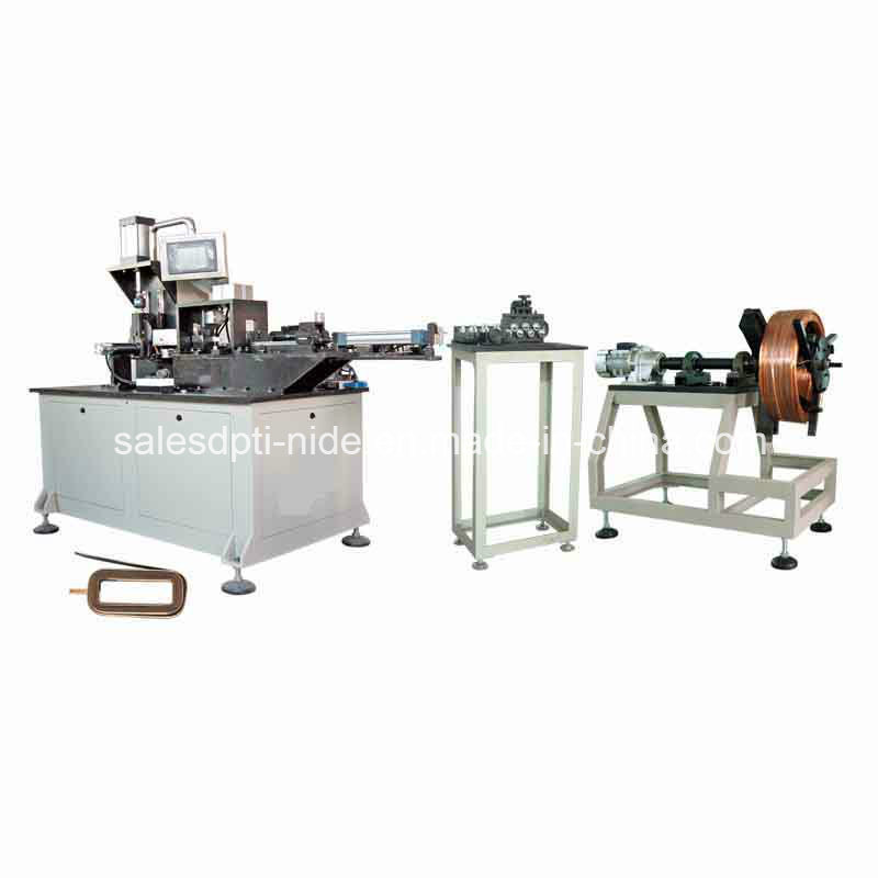 Stator Magnetic Field Coil Flat Wire Winding Forming Machine