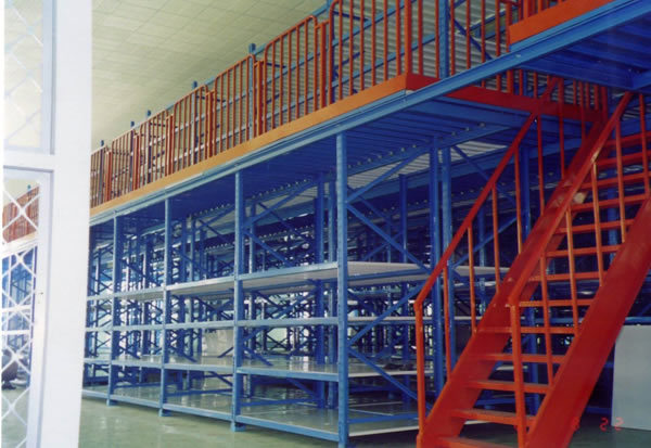 Multi-Floor Warehouse Heavy Loading Storage Mezzanine Shelves