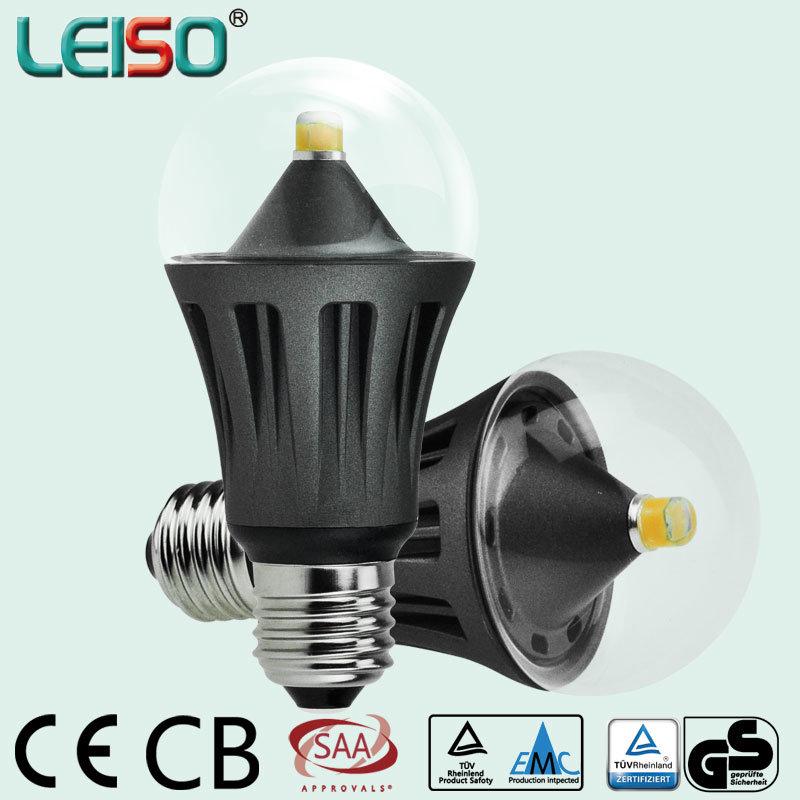8W 360 Degree Transparent Cover LED Bulb Light