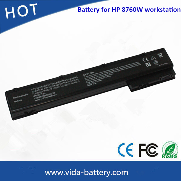 Laptop Battery/Lithium Battery for HP Elitebook 8560W 8760W