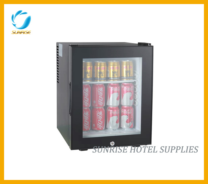 28L Capacity Glass Door Minibar for Hotel