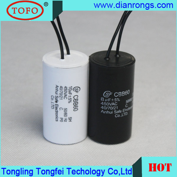 China Cbb60 Capacitor 20uf 250vac 50 60hz Power Capacitor