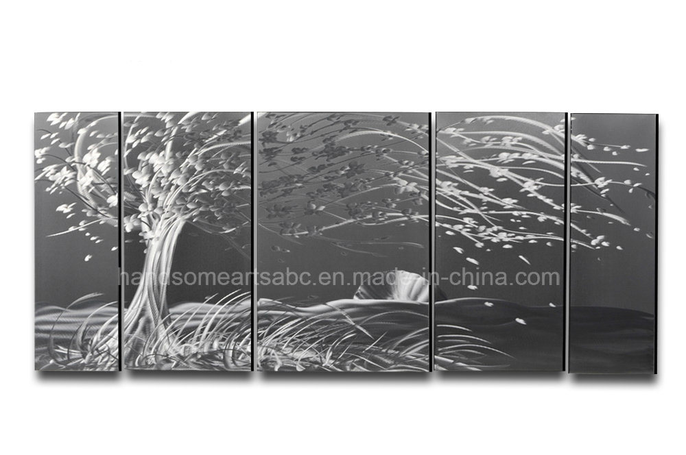3D Visual Effect Metall Wall Art for Deocoration