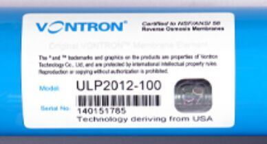 Supplier of Vontron 100 GPD RO Membrane