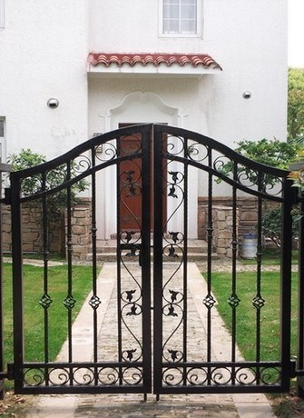 2016 Luxury European Style Metal Wrought Iron Gates Design