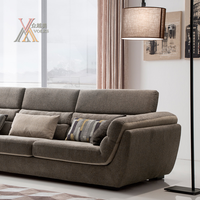 Modern Fabric Sofa Set with Adjustable Headrest (1603)