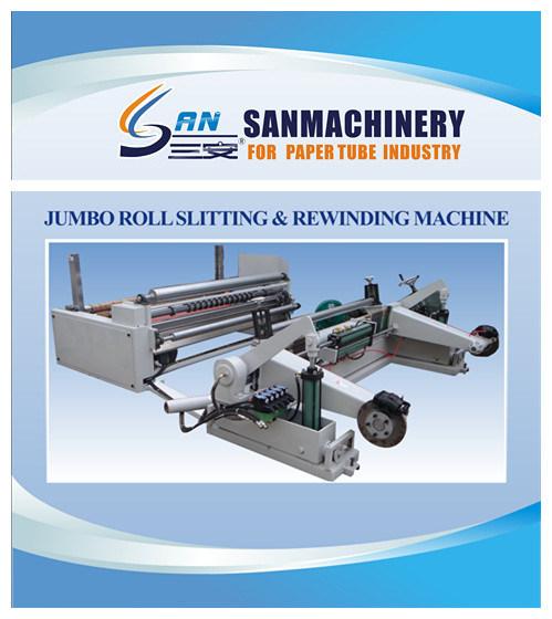 PLC Control Jumbo Paper Roll Slitting and Re-Winding Machine