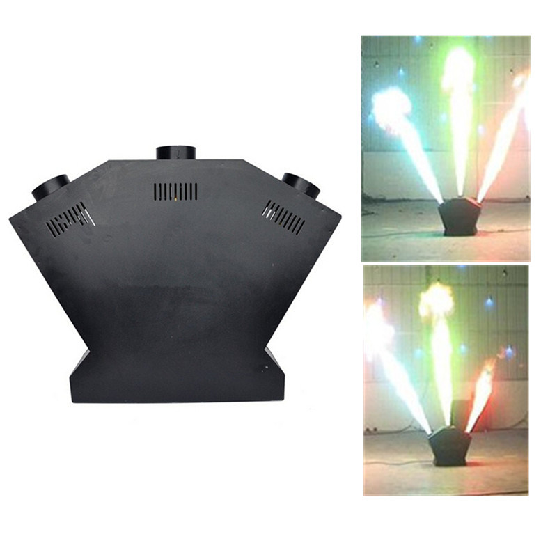 Three Heads Fire Machine Stage Equipment DMX Fire Projector Flame Effect