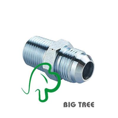 JIS Gas Male 60 Deg. Cone / BSPT Male Tube Adapter