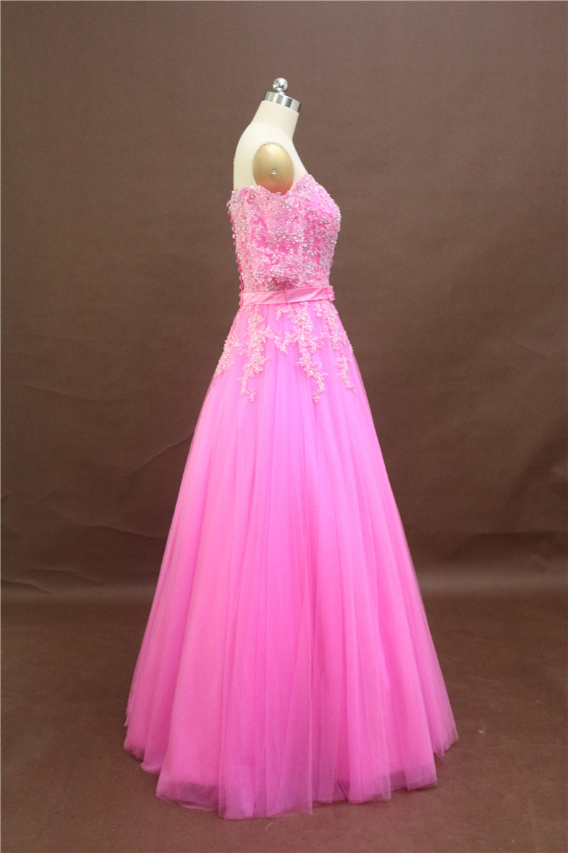 Pink Wedding Gown. Princess Party Gown