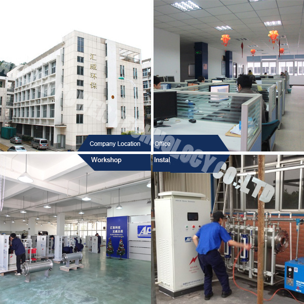 100g/H to 50kg/H Ozone Generator for Industrial Water Treatment
