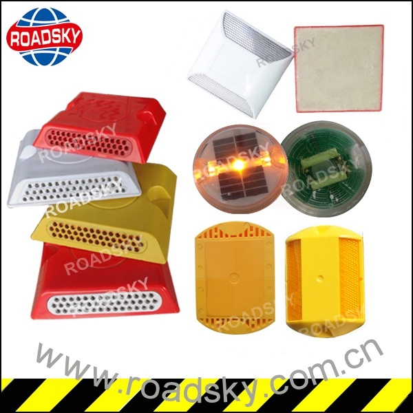 Highway Safety Single Side Red Reflective Plastic Road Stud Marker