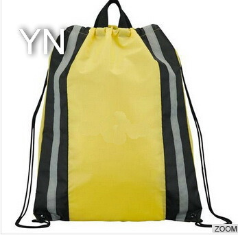 Reflective Cheap Drawstring Pouch Bags for Men