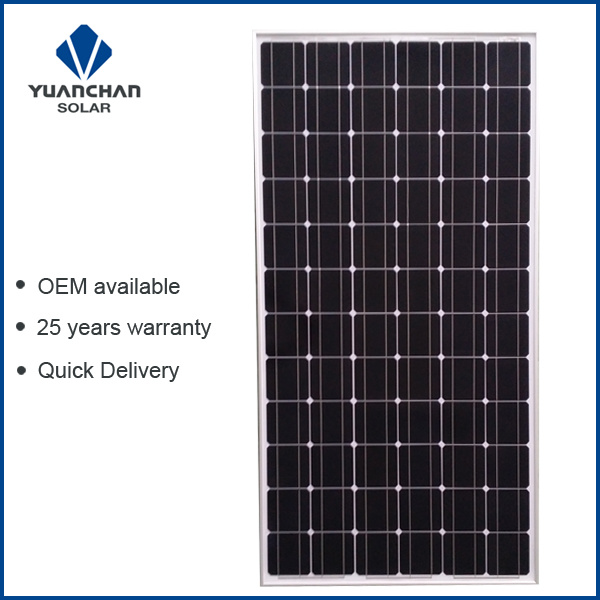 Yuanchan 200W Mono Solar Panel with 125 Cells, Low Price and High Quality