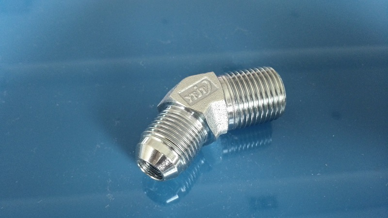 74 Cone Flared Jic Male/NPT Male 45 Elbow