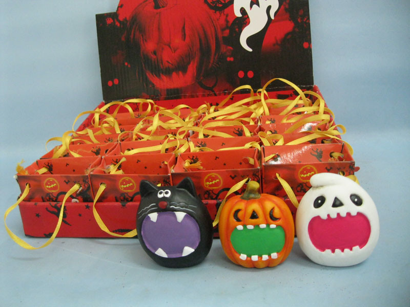 Halloween Pumpkin Ceramic Arts and Crafts (LOE2373A-6)