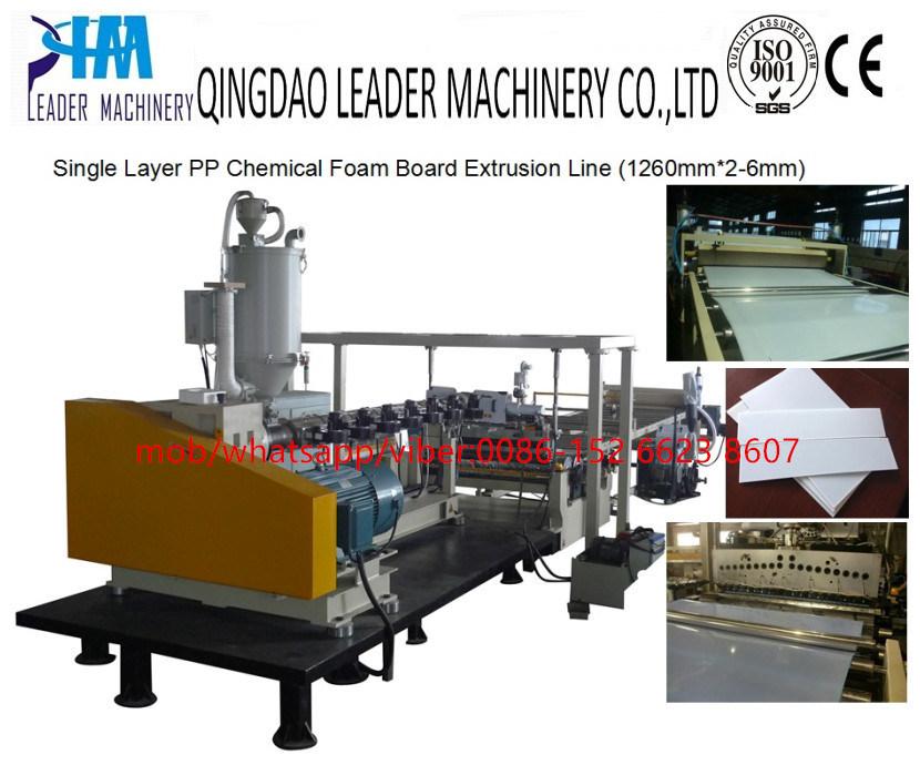 Plastic PP PE Foam Board Panel Foamed Plate Sheet Extrusion Production Line