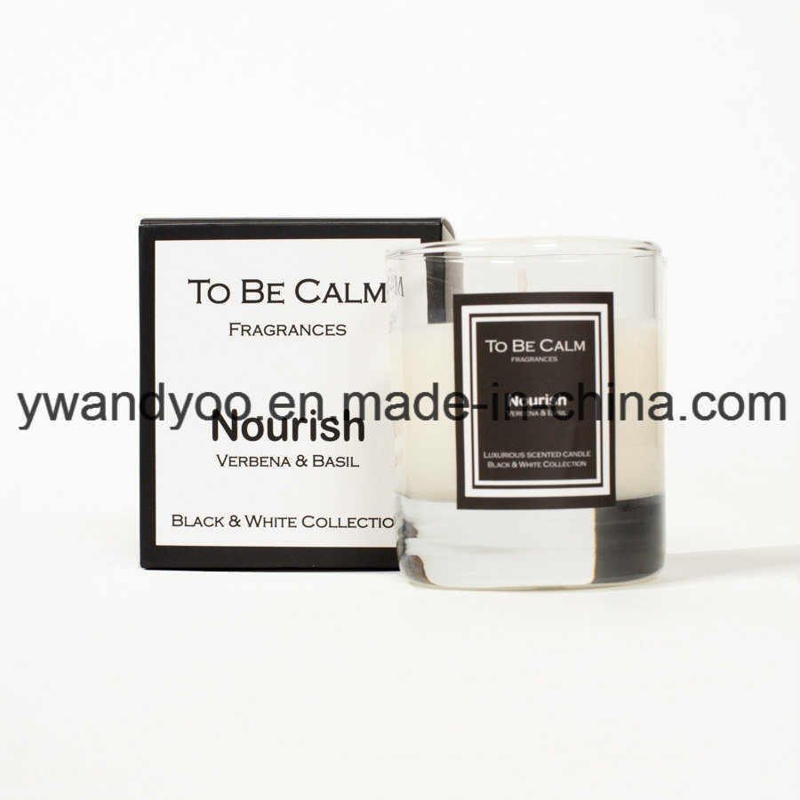 Black & White Collection Nourish Organic Soy Scented Glass Candle