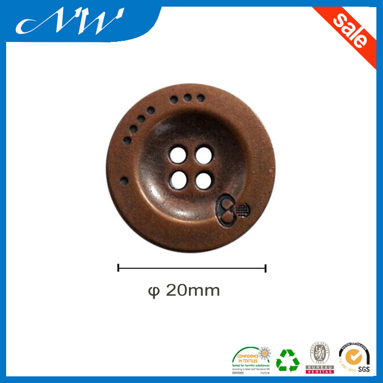 Metal Alloy Sewing Button in Various Color