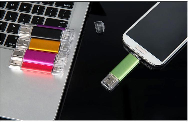 4GB-64GB Dual OTG USB Flash Drive for Smart Phone