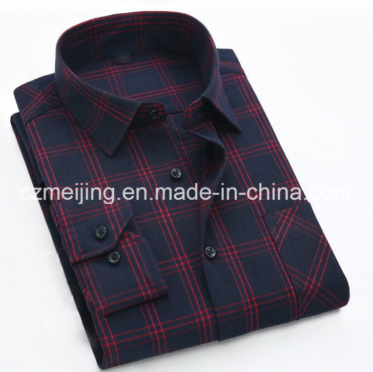 Brushed Fabric Men′s Shirt