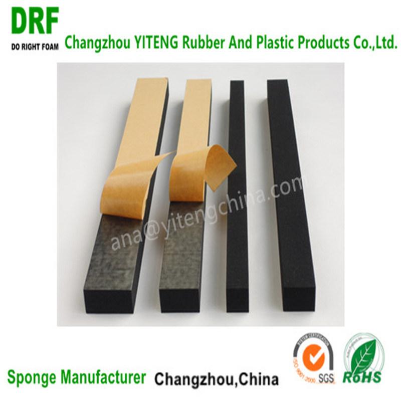 EVA/Cr/EPDM Foam Stripe, One Side Adhesive Foam Stripe