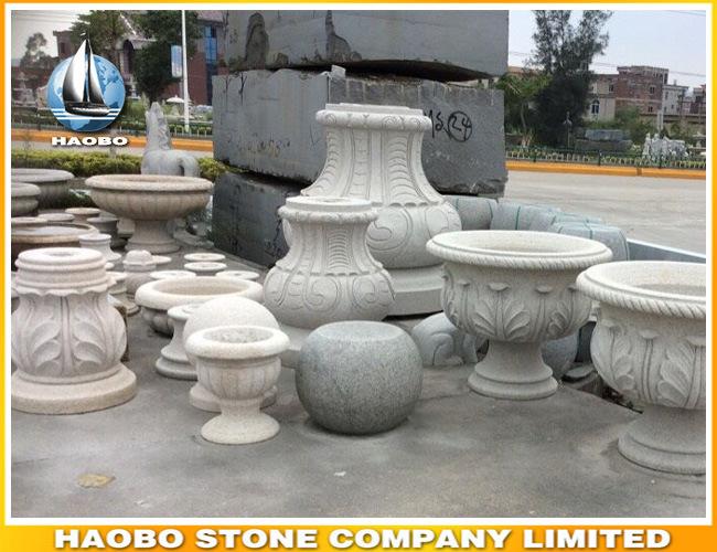 Granite Garden Flower Pot Garden Ornament
