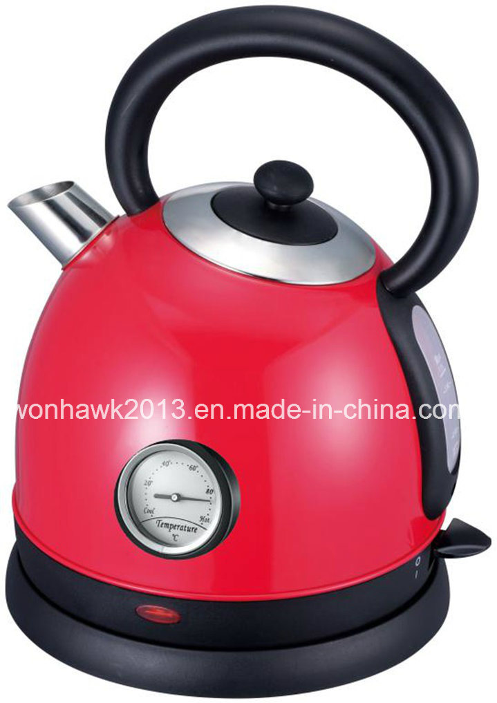 Stainless Steel Cordless Dome Kettle with Thermometer Sb-3018nt