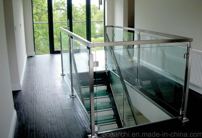 Stainless Steel Balcony Glass Railing / Glass Balcony Balustrade with American Standard