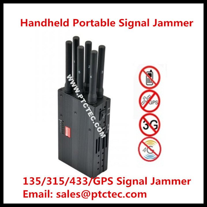 6 Bands Lojack/WiFi/4G/GPS/VHF/UHF Wireless Signal Blocker