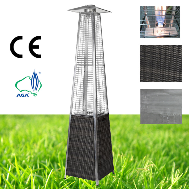 China Flame Pyramid Wicker Outdoor Gas Patio Heater Gl