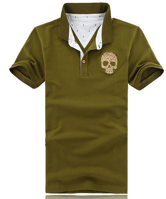 Custom Short Sleeve Mens Cotton Polo Shirt Design