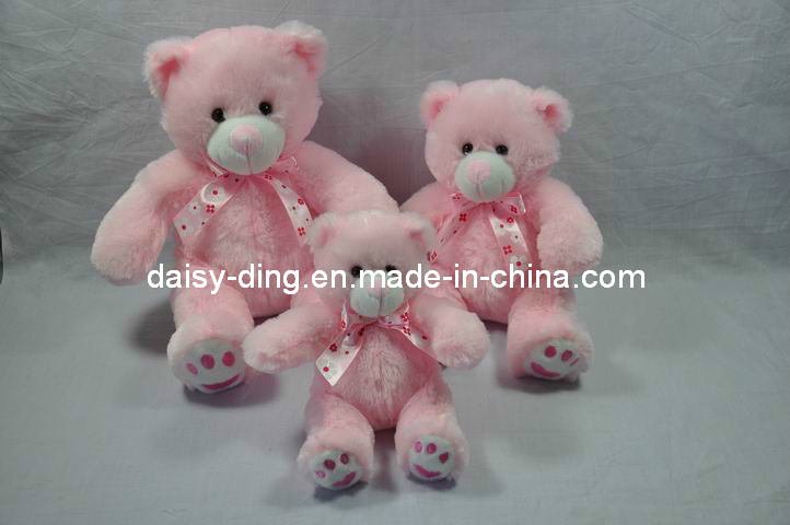 Plush Pink Teddy Bear with New Soft Material