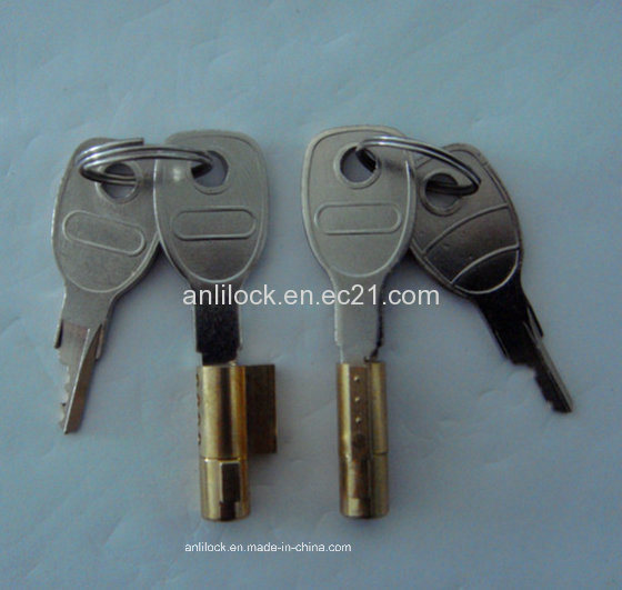 Brass Cylinder Lock, Trailer Lock, Small Collectors Lock Al-1104