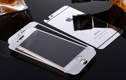 Tempered Glass Screen Protector for iPhone 6/6s Plus Electroplating Silver