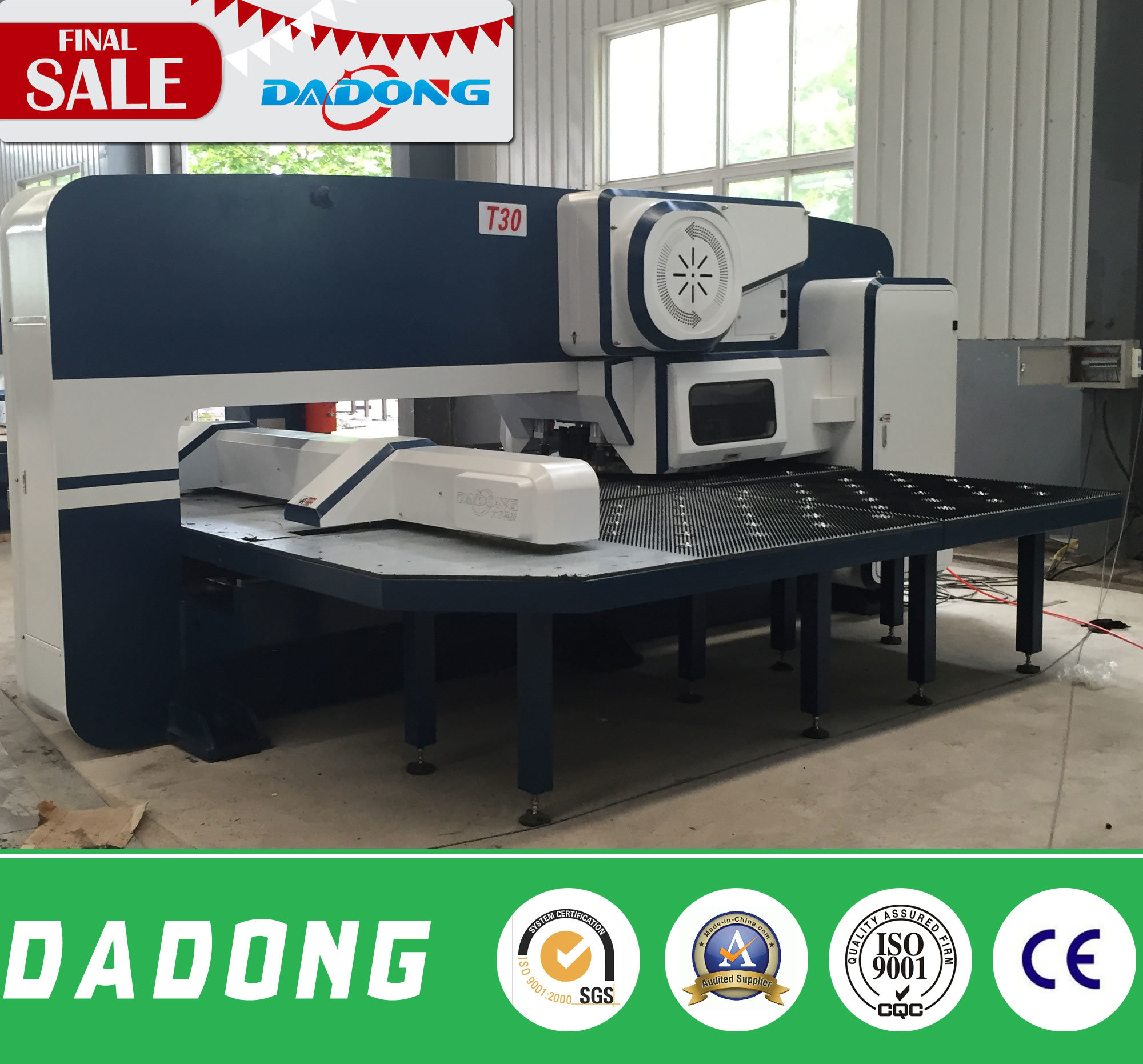 16/24/32 Stations with 2 Auto Index CNC Turret Punching Machine for Sheet Metal Processing