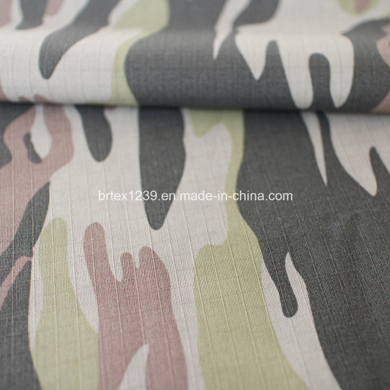 Cotton Camouflage Fabric for Military Use with Check (20X16/100X56)