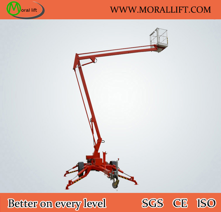 Vehicle Pulling Trailer Mounted Towable Boom Lift