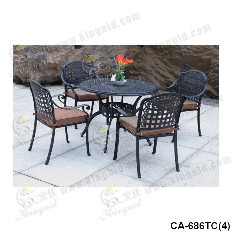 Cast Aluminium Table Chair, Outdoor Furniture, Ca-686