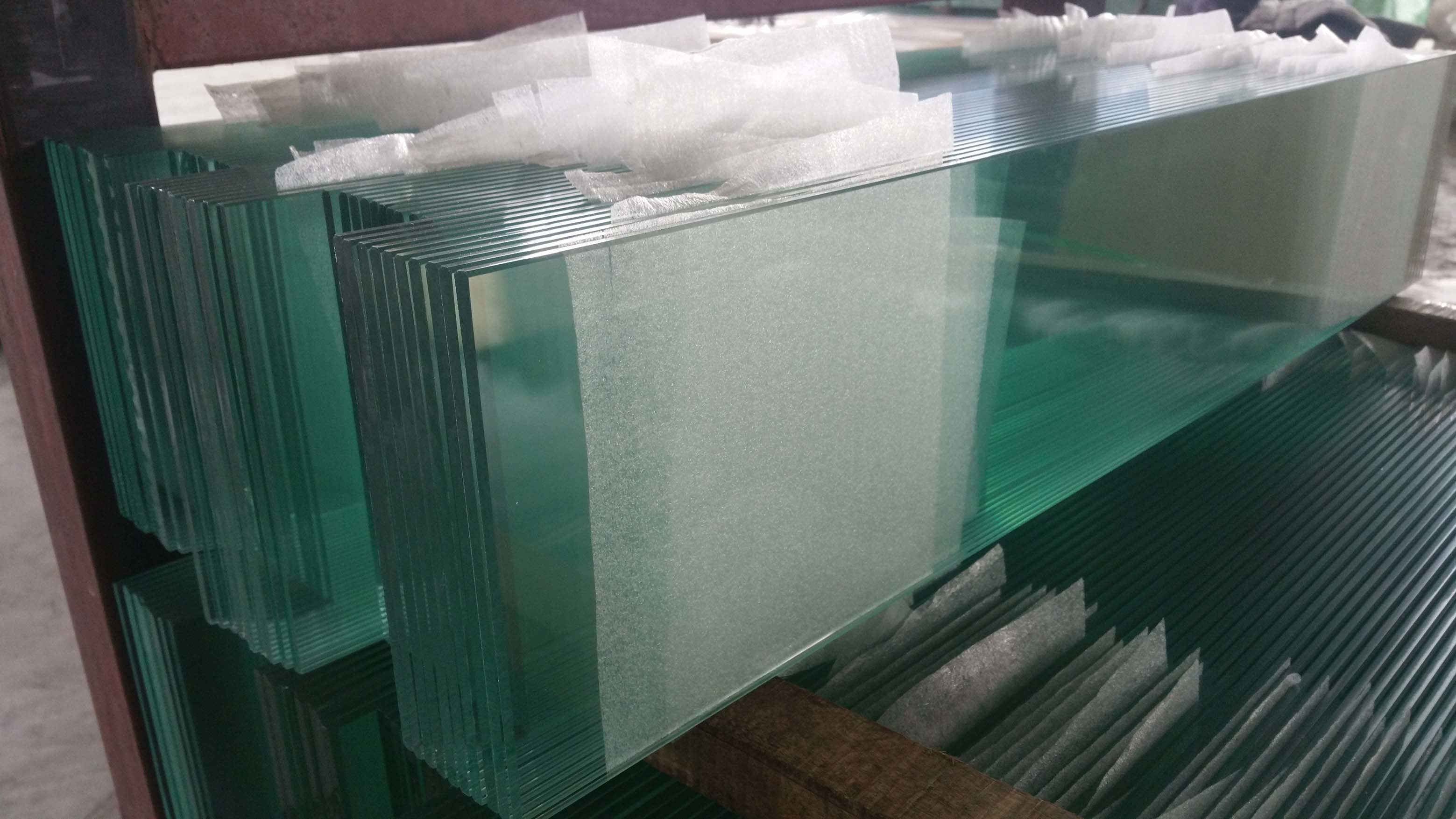 Clear Float Louvre/Louver Glass with Polished Two Long Side