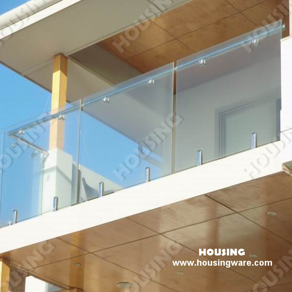 China customized design balcony glass railings railing for Balcony glass railing designs pictures