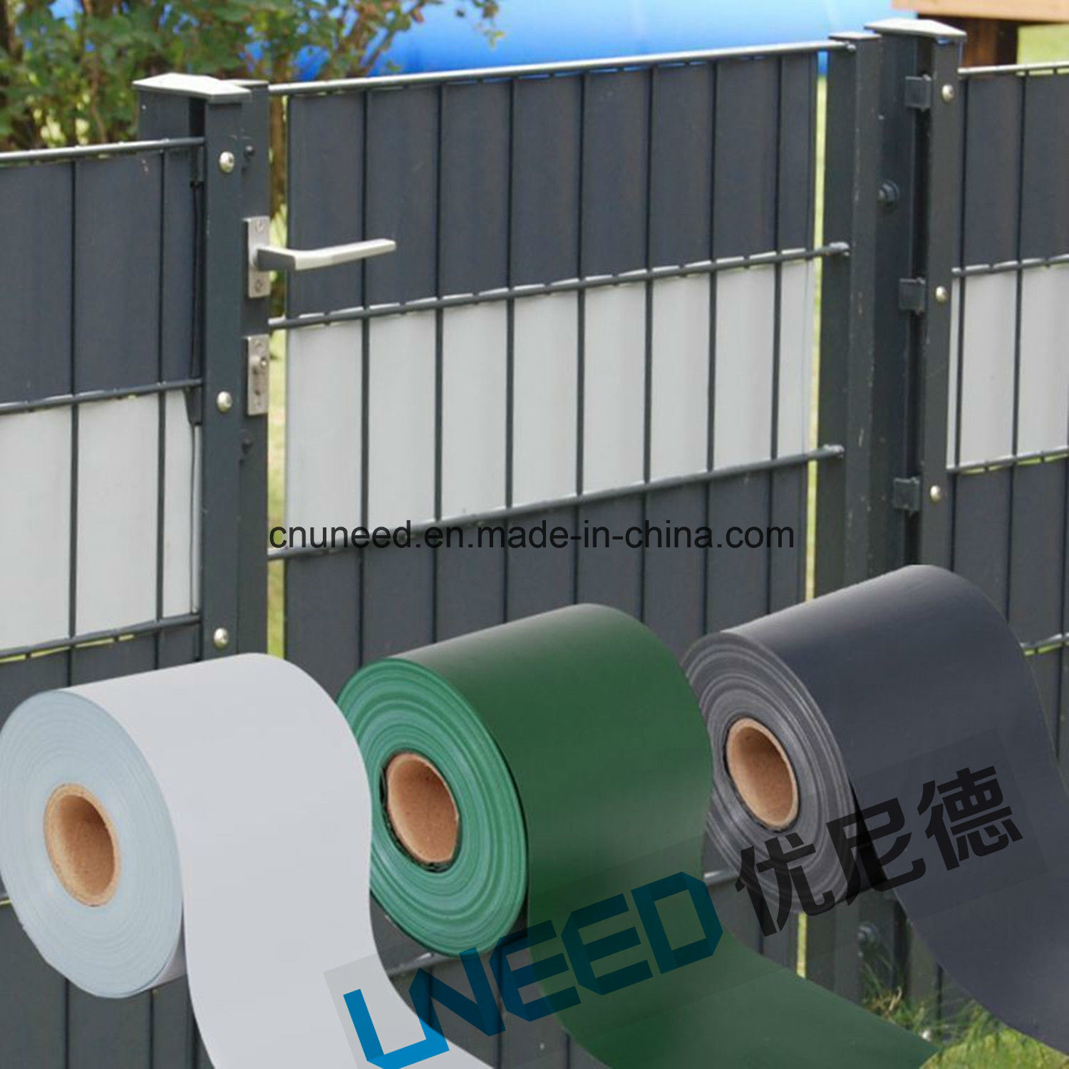 China New Products PVC Screen Strip for Garden Fence Protection