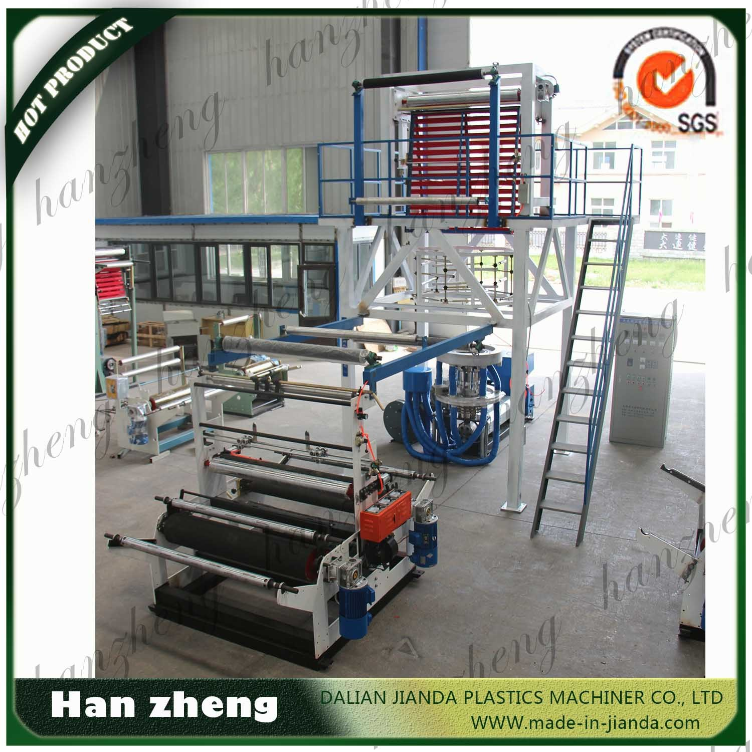 Z40-700 High Speed HDPE LDPE Single Screw Double Die Head Plastic Film Blowing Machine