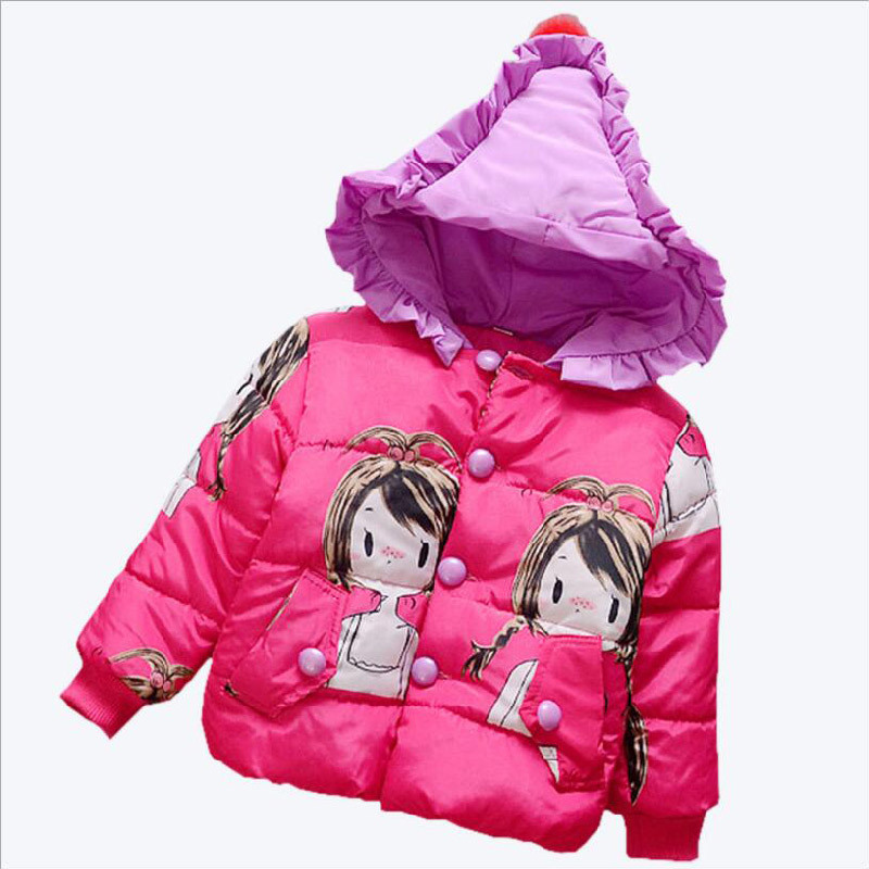 Girl Colors Long Cotton Coat for Kids Clothing