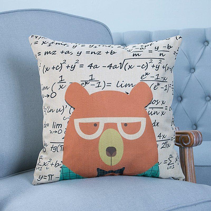 Digital Print Decorative Cushion/Pillow with Animals Pattern (MX-15)
